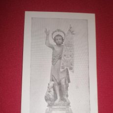 Postales: ANTIGUA ESTAMPA DE SAN JUAN BAUTISTA. Lote 42441067