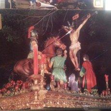 Postales: POSTAL RELIGIOSA SEMANA SANTA MALAGA , N 10 CRISTO DE LA SANGRE ESCUDO ORO. Lote 42639416