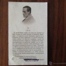 Postales: ESTAMPA RELIQUIA PADRE RUBIO . Lote 42671237