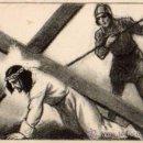 Postales: VIA CRUCIS 7ª ESTACIÓN: JESÚS CAE EN TIERRA POR SEGUNDA VEZ EDITORIAL BALMES SIN CIRCULAR . Lote 42704475