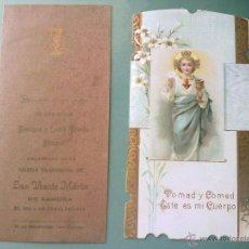 Postales: ESTAMPAS ANTIGUAS PRIMERA COMUNION 1911 Y 1914. Lote 42816541