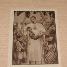 Postales: ESTAMPA RELIGIOSA EL PADRE DAMIÁN DE LOS SAGRADOS CORAZONES APOSTOL DE LOS LEPROSOS. Lote 43196597