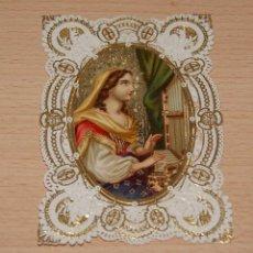 Postales: ESTAMPA RELIGIOSA TROQUELADA CON RELIEVE - FECHADA 1936. Lote 42864609
