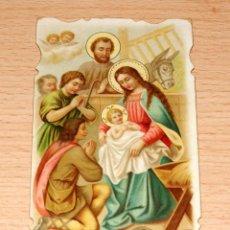 Postales: ESTAMPA RELIGIOSA NACIMIENTO DE JESÚS - FECHADA EN AÑO 1927. Lote 42864744