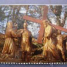 Postales: MEDIA POSTAL RELIGIOSA CALVARIO DE LA VIRGEN DE LOURDES. Lote 43072682