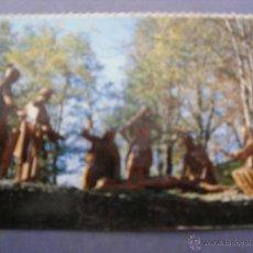 Postales: MEDIA POSTAL RELIGIOSA CALVARIO DE LA VIRGEN DE LOURDES. Lote 43072699