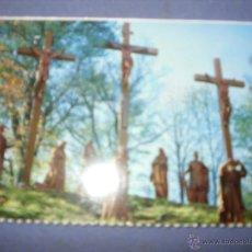Postales: MEDIA POSTAL RELIGIOSA CALVARIO DE LA VIRGEN DE LOURDES. Lote 43072703