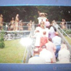 Postales: MEDIA POSTAL RELIGIOSA CALVARIO DE LA VIRGEN DE LOURDES. Lote 43072713