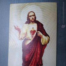 Postales: ESTAMPA RELIGIOSA CRISTO SAGRADO CORAZON DE JESUS SUIZA. Lote 43083459