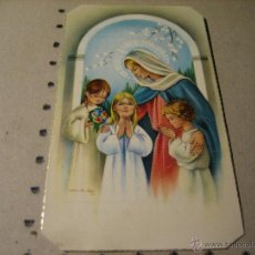 Postales: ESTAMPA RELIGIOSA RECUERDO RECORDATORIO PRIMERA COMUNION: EL FERROL DEL CAUDILLO 1970. Lote 43111805