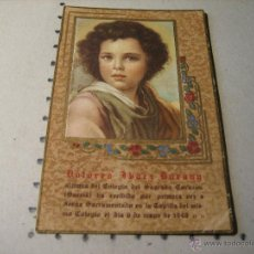 Postales: ESTAMPA RELIGIOSA RECUERDO RECORDATORIO PRIMERA COMUNION: SARRIA 1948. Lote 43112171