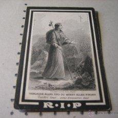 Postales: ESQUELA MORTUORIA. ESTAMPA DEFUNCION: NOVENA BENDITAS ANIMAS DEL PURGATORIO. 1889. Lote 43164610