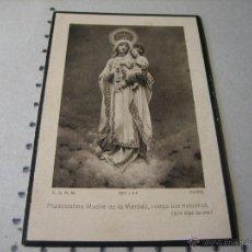 Postales: ESQUELA MORTUORIA. ESTAMPA DEFUNCION: PALENCIA 1924. Lote 43165087