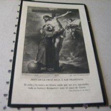 Postales: ESQUELA MORTUORIA. ESTAMPA DEFUNCION: SEVILLA 1933. Lote 43165370