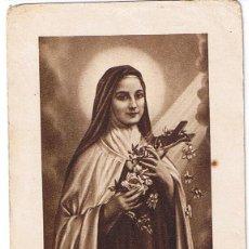 Postales: ESTAMPA RELIGIOSA: SANTA TERESITA DEL NIÑO JESUS. . Lote 43165404