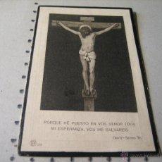 Postales: ESQUELA MORTUORIA. ESTAMPA DEFUNCION: SEVILLA 1917. Lote 43165434