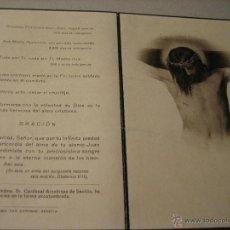 Postales: ESQUELA MORTUORIA. ESTAMPA DEFUNCION: ECIJA 1946. Lote 43189377