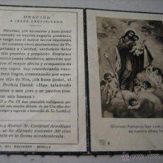 Postales: ESQUELA MORTUORIA. ESTAMPA DEFUNCION: SEVILLA 1946. Lote 43190010