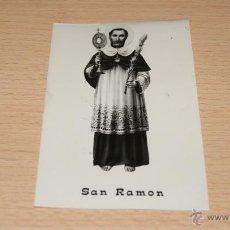 Postales: ESTAMPA RELIGIOSA DE SAN RAMÓN EN PAPEL FOTOGRÁFICO. Lote 43234769