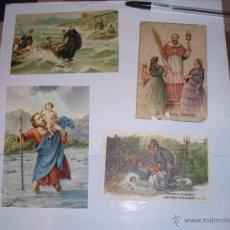 Postales: LOTE 4 ANTIGUAS POSTALES RELIGIOSAS. Lote 43234774