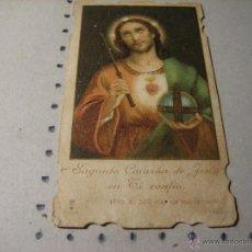 Postales: ESTAMPA RELIGIOSA ANTIGUA: SAGRADO CORAZON DE JESUS.- TROQUELADA. Lote 43258234