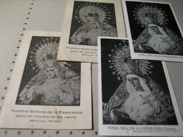 ESTAMPA RELIGIOSA ANTIGUA: NUESTRA SEÑORA DE LA ESPERANZA. CONVENTO DE SAN JACINTO. SEVILLA (Postales - Postales Temáticas - Religiosas y Recordatorios)