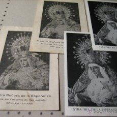 Postales: ESTAMPA RELIGIOSA ANTIGUA: NUESTRA SEÑORA DE LA ESPERANZA. CONVENTO DE SAN JACINTO. SEVILLA. Lote 43258884