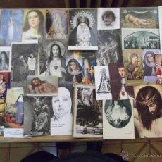 Postales: POSTALES RELIGIOSAS-V16-LOTE DE ESTAMPAS RELIGIOSAS. Lote 43266243