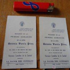 Postales: AÑO 1953 LA PALMA DEL CONDADO , HERMANAS CARMELITAS DE LA CARIDAD , RECUERDO PRIMERA COMUNION. Lote 43437269