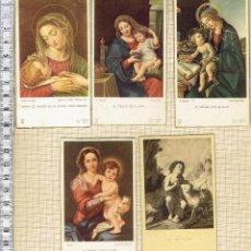 Postales: LOTE 5 RECORDATORIOS COMUNIÓN AÑOS 1940-50.. Lote 43505325