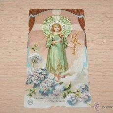 Postales: ESTAMPA RELIGIOSA ANTIGUA - 11 CM. * 5,8 CM.. Lote 43526456