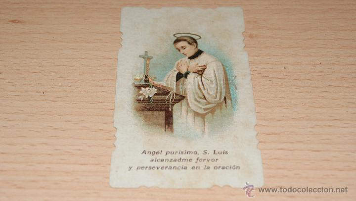 ESTAMPA RELIGIOSA S. LUIS - 8,6 CM. * 5 CM. (Postales - Postales Temáticas - Religiosas y Recordatorios)