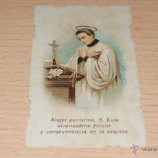 Postales: ESTAMPA RELIGIOSA S. LUIS - 8,6 CM. * 5 CM.. Lote 43526612
