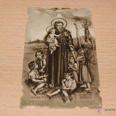 Postales: ESTAMPA RELIGIOSA SAN ANTONIO DE PADUA NÚMERO 180 - 10,5 CM. * 5,8 CM.. Lote 43526673