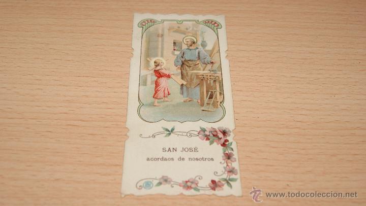 ESTAMPA RELIGIOSA SAN JOSÉ - 11 CM. * 4,9 CM. (Postales - Postales Temáticas - Religiosas y Recordatorios)
