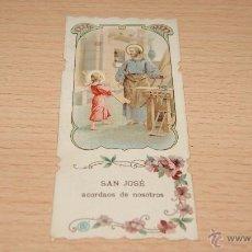 Postales: ESTAMPA RELIGIOSA SAN JOSÉ - 11 CM. * 4,9 CM.. Lote 43526730