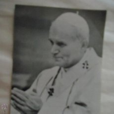 Postales: ANTIGUA ESTAMPA RELIGIOSA - JUAN PABLO SEGUNDO 2 II - PAPA. Lote 43635119
