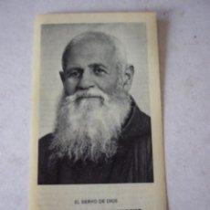Postales: ESTAMPA DE FRAY LEOPOLDO DE ALPANDEIRE. CON RELIQUIA. FOURNIER.. Lote 43646590