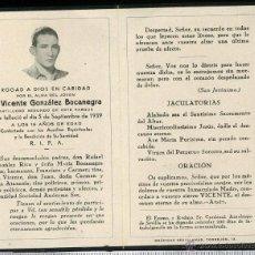 Postales: RECORDATORIO DE MILITAR ARTILLERO DE FECHA 5 DE SEPTIEMBRE DE 1939. Lote 44029967