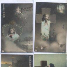 Postales: LOTE DE POSTALES RELIGIOSAS AÑO 1909 CIRCULADAS. Lote 44072196