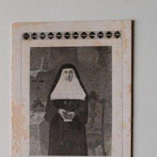 Postales: ANTIGUA ESTAMPITA RELIGIOSA DE LA MADRE DE DIOS R.M. MARIA RAFOLS, HEROINA DE LOS SITIOS DE ZARAGOZA. Lote 44079734