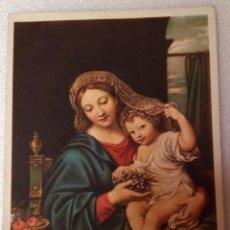 Postales: BONITA POSTAL VIRGEN DE LA UVA . Lote 44089763