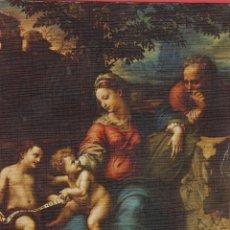 Postales: POSTAL RELIGIOSA - SAGRADA FAMILIA DEL ROBLE - MUSEO DEL PRADO - PV.304. Lote 44094470