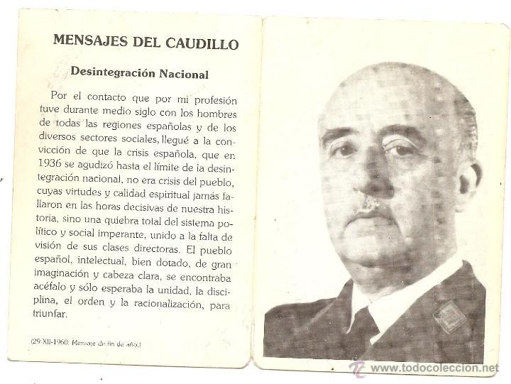 FUNDACIÓN FRANCISCO FRANCO. ESQUELA DE 1989 (Postales - Postales Temáticas - Religiosas y Recordatorios)