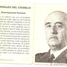 Postales: FUNDACIÓN FRANCISCO FRANCO. ESQUELA DE 1989. Lote 44245511