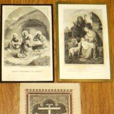 Postales: LOTE DE 3 RECORDATORIOS DEFUNCIÓN AÑOS 1885, 1890 Y 1892 SIGLO XIX. Lote 44645491