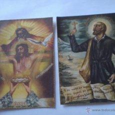 Postales: ANTIGUA PAREJA DE ESTAMPAS RELIGIOSAS AÑOS 40.. Lote 44924974