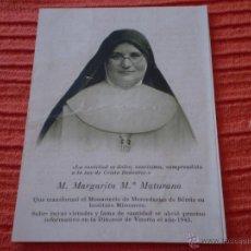 Postales: ANTIGUA ORACION M.MARGARITA MATURANA.VITORIA,1943. Lote 44941455