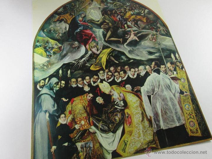 LOTE DE 3 POSTALES-1964-TOLEDO-GRECO-ENTIERRO DEL C.ORGAZ+LAG.SAN PEDRO+-25X20 CMS-FOURNIER (Postales - Postales Temáticas - Religiosas y Recordatorios)