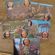 Postales: LOTE POSTALES JUAN PABLO II VISITA ESPAÑA AÑOS 80 TOTUS TUUS. Lote 45009823